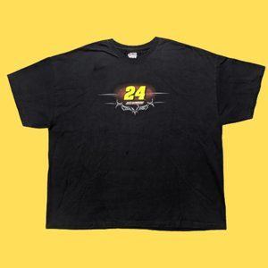 Jeff Gordon #24 Big Graphic Logo Black Shirt